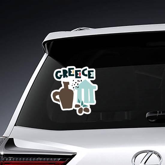 Cartoon Greece Symbols Sticker example