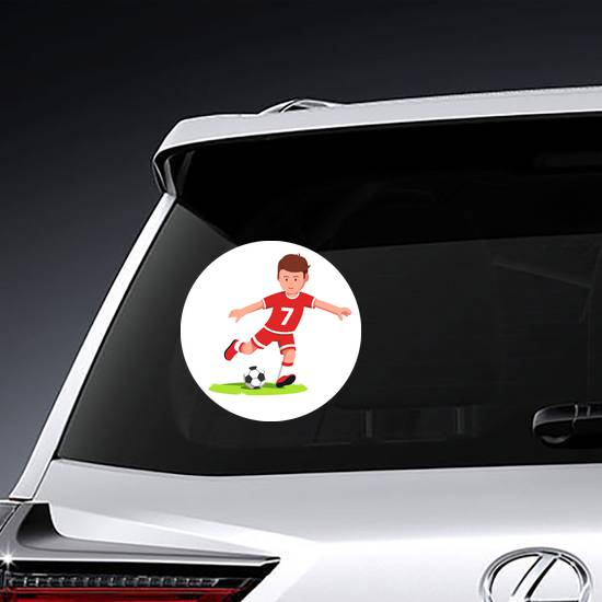 Cartoon Soccer Player Sticker example