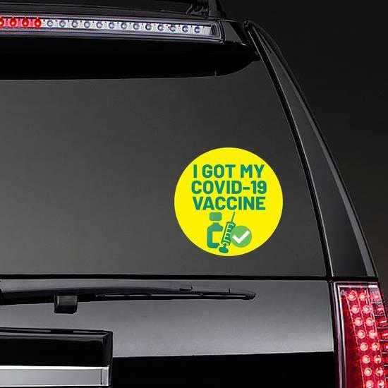 Covid-19 Vaccine Circle Sticker