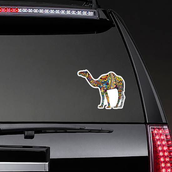 Cheerful Camel Colorful Illustration Sticker
