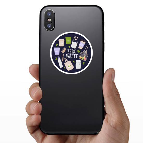 Colorful Eco And Waste Elements Sticker