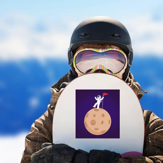 Cosmonaut Dancing on Moon Sticker