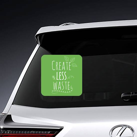 Create Less Waste Sticker example