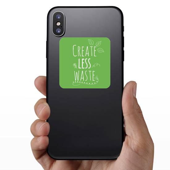 Create Less Waste Sticker