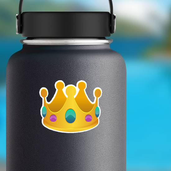 Crown with Blue and Purple Gems Sticker