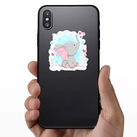 Curious Baby Elephant Sticker