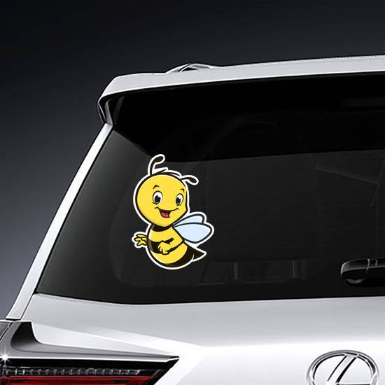 Cute Baby Bee Character Sticker