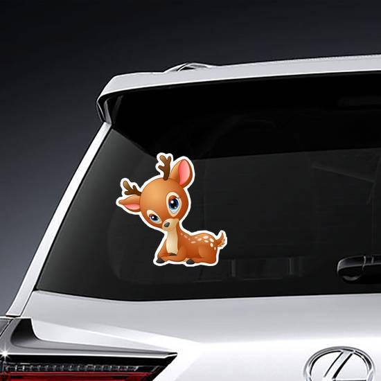 Cute Baby Deer Cartoon Sticker