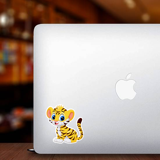 Cute Baby Tiger Cartoon  Sticker