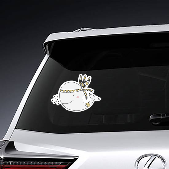 Cute Boho Whale Sticker