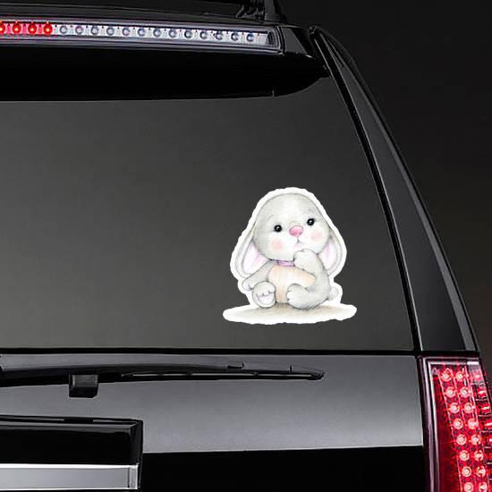 Cute Bunny Baby Illustration Sticker