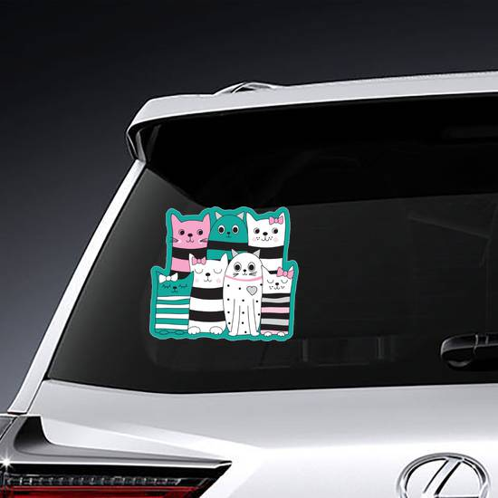 Cute Cartoon Cats Sticker