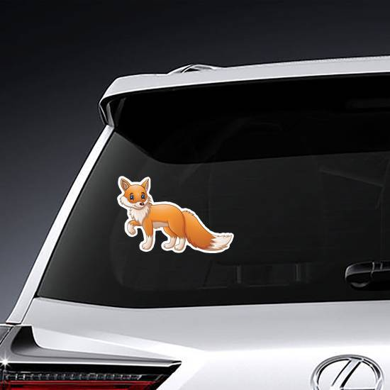 Cute Cartoon Fox Sticker