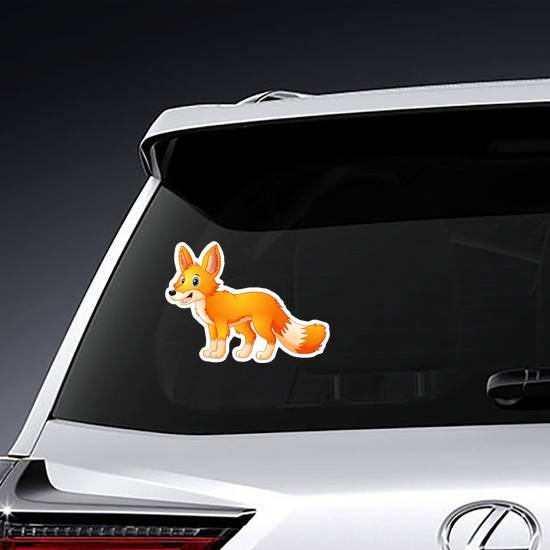 Cute Fox Cartoon Sticker