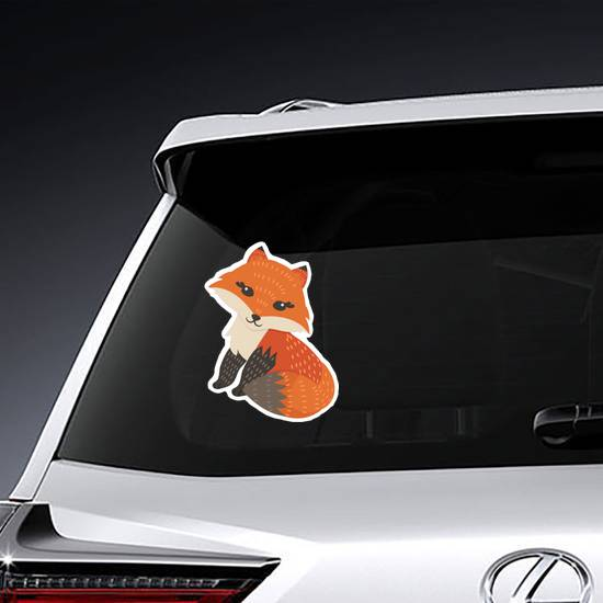 Cute Fox Posing Sticker