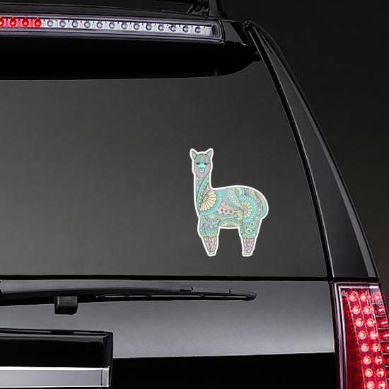 Cute Funny Sweet Colorful Lama Sticker