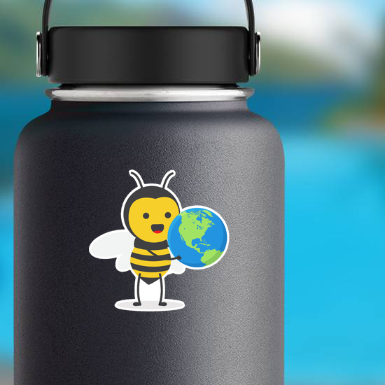 Cute Honey Bee Earth Sticker
