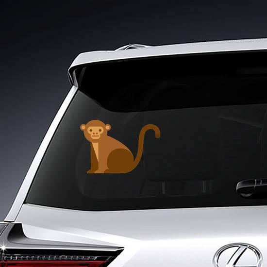 Cute Monkey Icon Sticker
