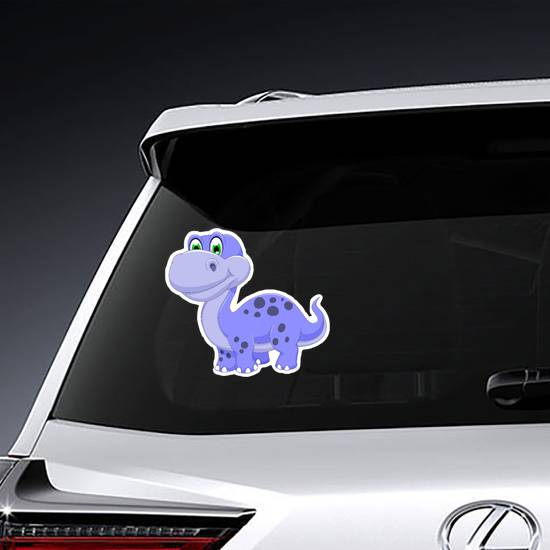 Cute Purple Dinosaur Cartoon Sticker