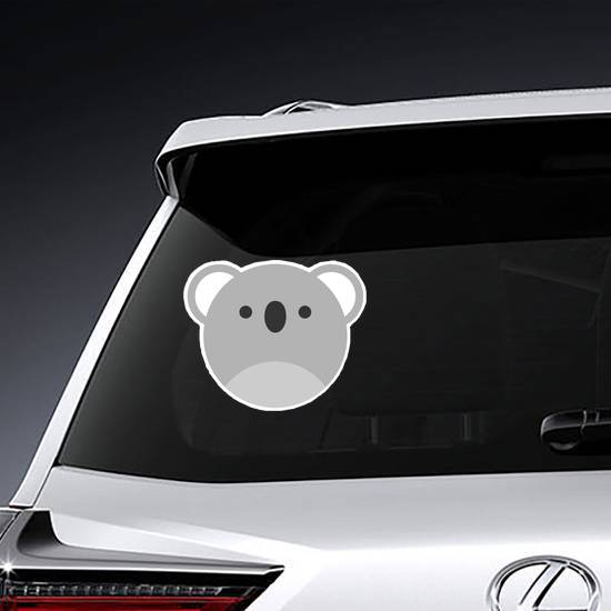 Cute Round Koala Graphic Sticker