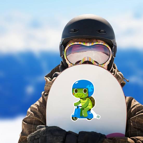 Cute Turtle on Moped Sticker