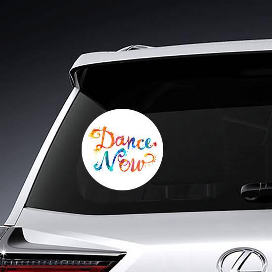 Dance Now Text Sticker