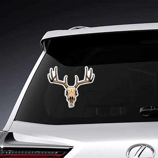 Deer Skull Illustration Sticker