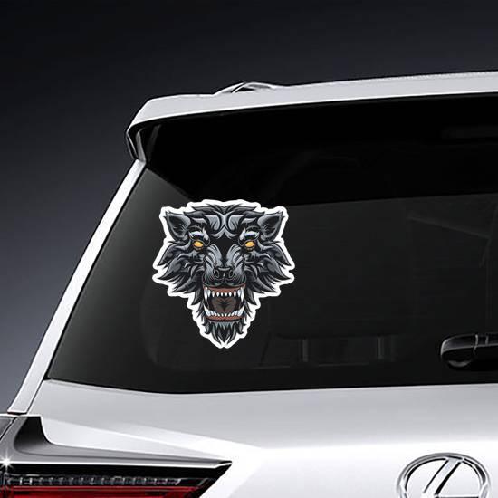 Demon Wolf Sticker