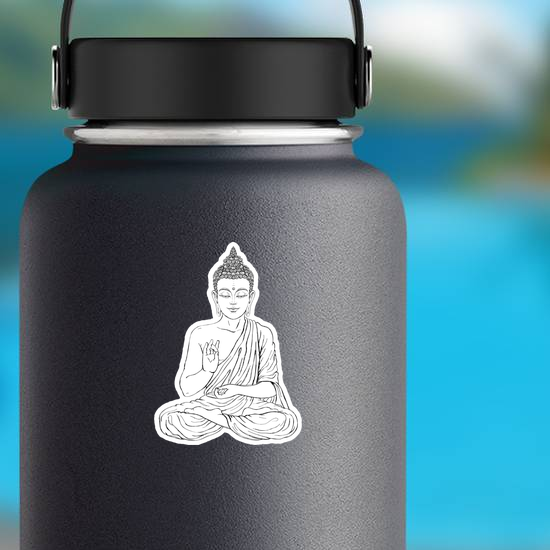 Detailed Seated Buddha In The Lotus Position Sticker
