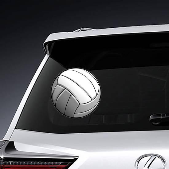 Detailed Volleyball Ball Illustration Sticker