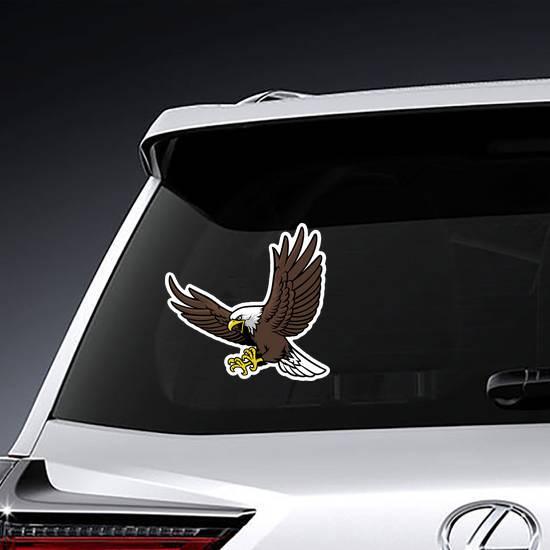 Diving Eagle Mascot Sticker