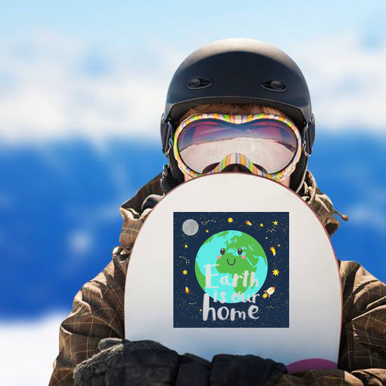 Earth Is Our Home Space Sticker