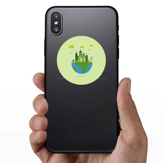 Eco Friendly Earth Sticker