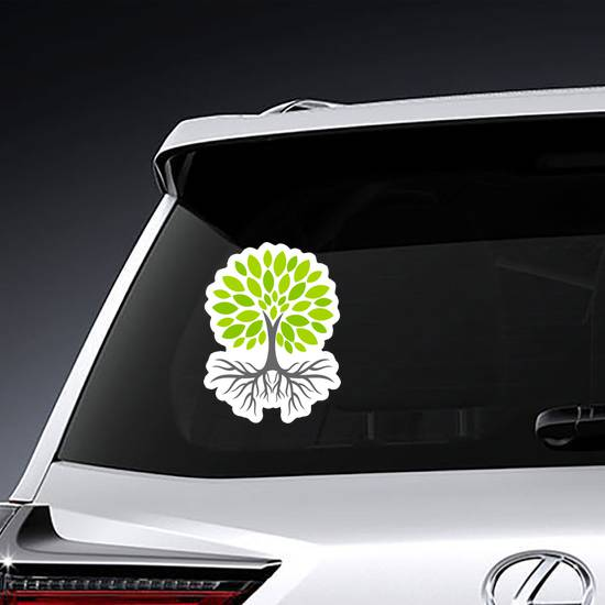Eco Tree With Roots Sticker
