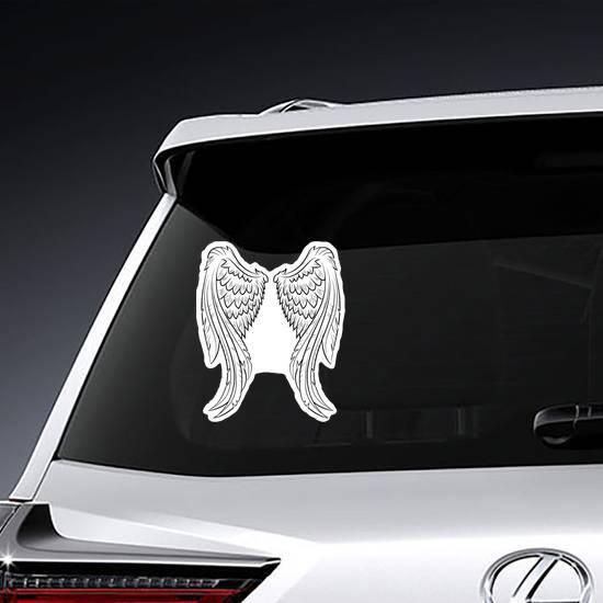 Elegant Angel Wings Sticker example
