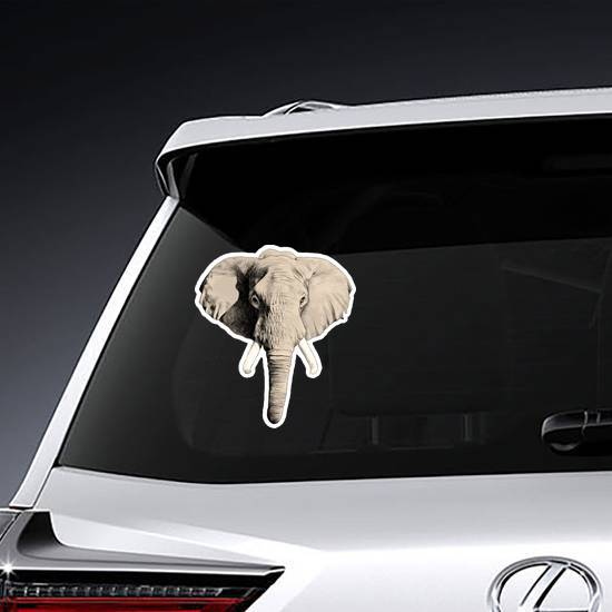 Elephant Head Sticker