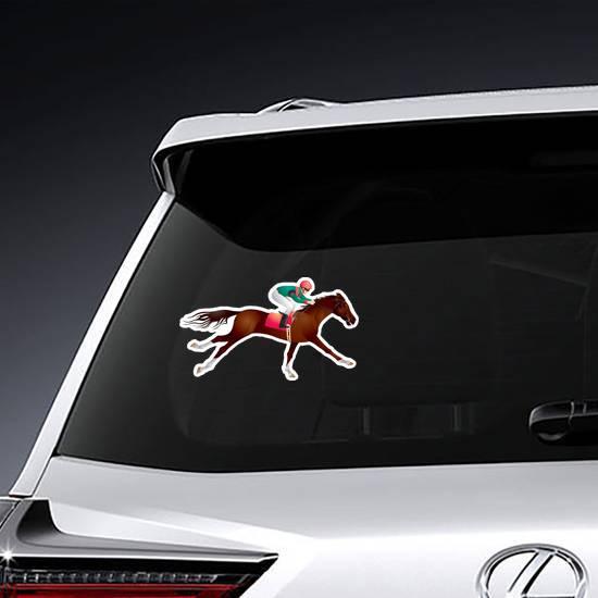 Equestrian Sport Horse And Rider Sticker