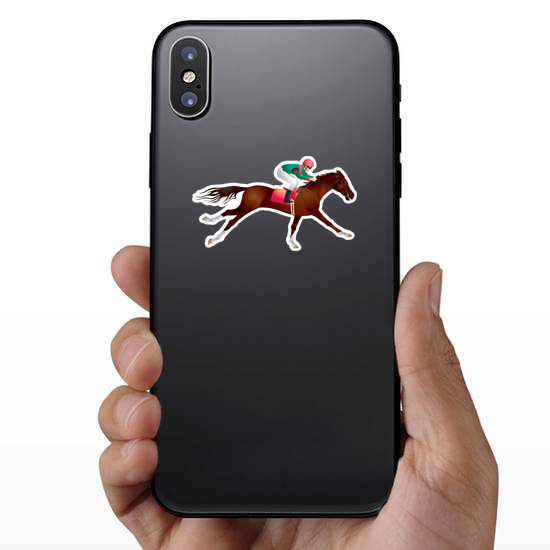 Equestrian Sport Horse And Rider Sticker