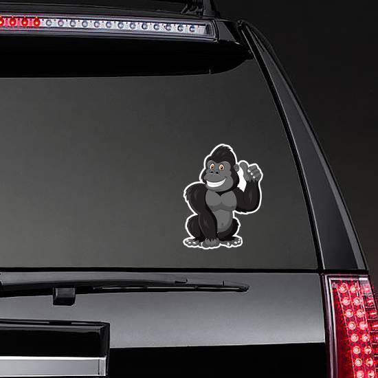 Cartoon Funny Gorilla Giving Thumb Up Sticker