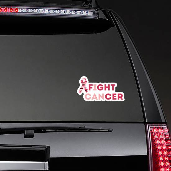 Fight Cancer Breast Cancer Awareness Ribbon Sticker example