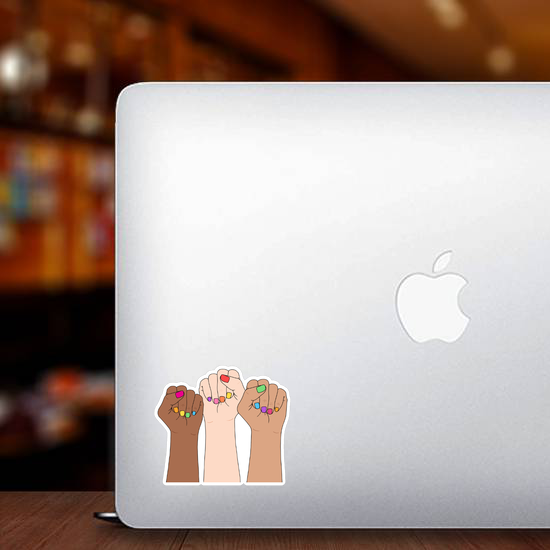 Fighting Fists Of Women Sticker