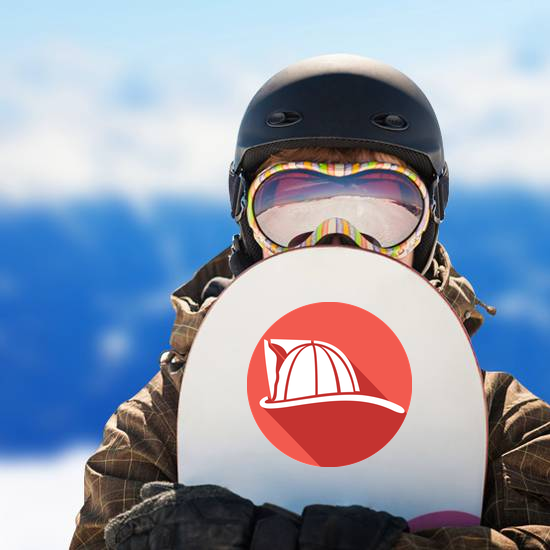 Firefighter Helmet Flat Icon Sticker