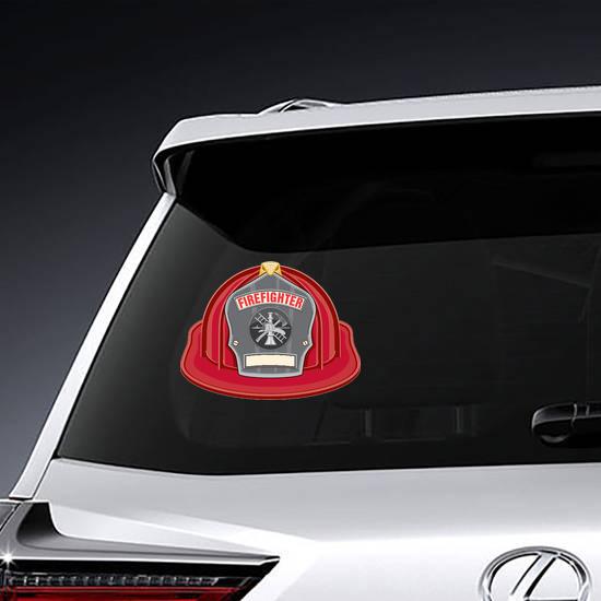 Firefighter Helmet Illustration Sticker