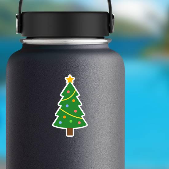 Flat Christmas Tree Sticker
