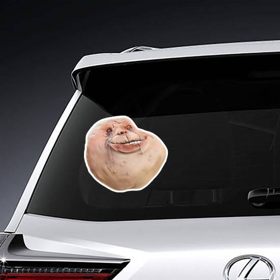 Crying Forever Alone 3D Meme Sticker example