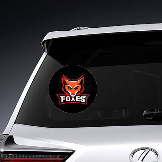 Fox Mascot with Logo Type Sticker