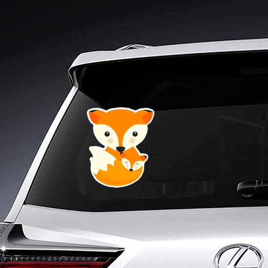 Fox Mother and Baby Sticker