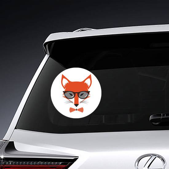 Fox Wearing Bowtie and Sunglasses Sticker