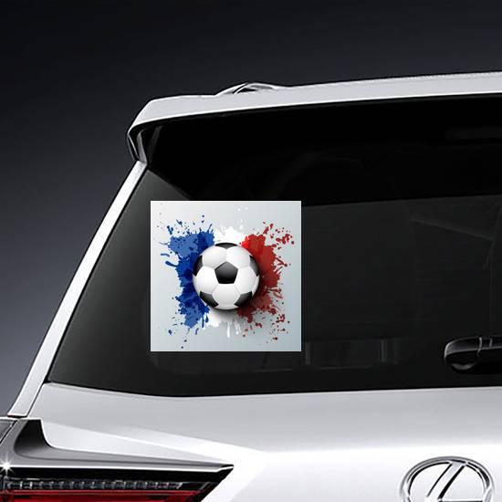 France Flag Soccer Sticker example