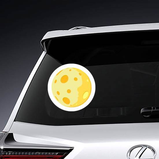 Full Yellow Moon Sticker